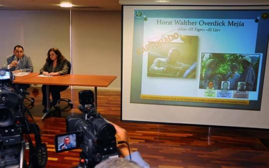 El ministro de Gobernación y la fiscal general de Guatemala dan pormenores de la captura de Horst Overdick en conferencia de prensa