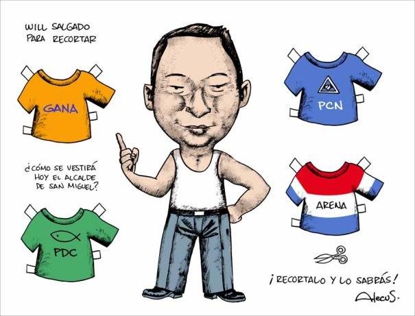 El alcalde migueleño, Wilfredo Salgado